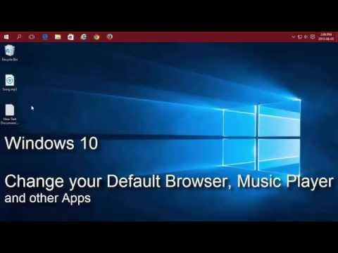 Windows 10 - Change your default Web Browser, Music Player and other apps