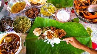 Download Sri Lankan Tamil Food - BANANA LEAF MEAL and Lagoon Crabs in Trincomalee, Sri Lanka Video