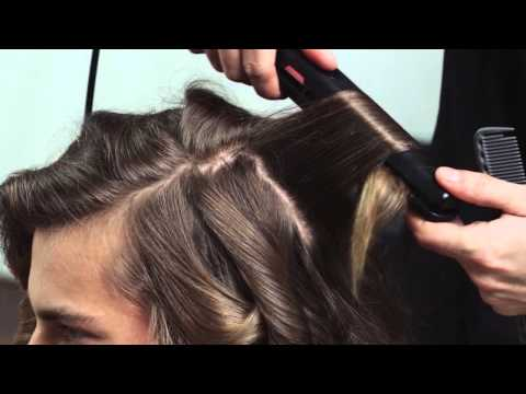 How to create a textured men's hairstyle for long hair