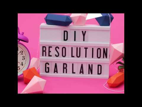 How to Make New Year's Resolution Garland