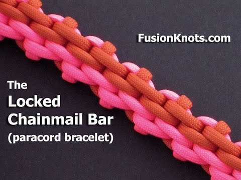 How to Make the Locked Chainmail Bar (Paracord) Bracelet by TIAT