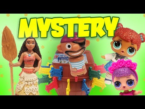 Disney Princess and LOL Dolls Pop-Up Pirate Mystery Clue Guessing Game with Moana and Sugar Queen!
