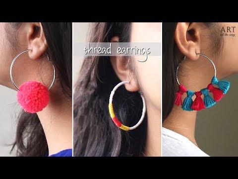 3 Easy Thread Earrings