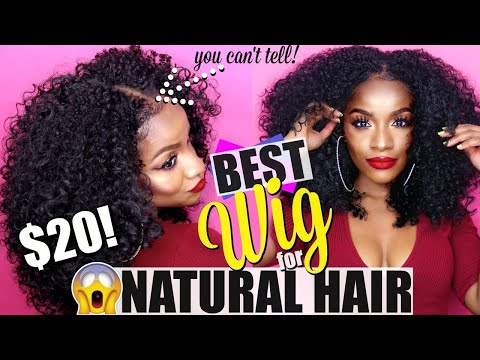 Y'all, this Synthetic Wig is So REALISTIC! Amazing U-part Wig for Natural Hair!