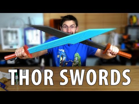 3D Printing Swords from Thor Ragnarok Using 3DWorkbench Models Ultimaker Prusa Proto-Pasta