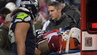 Mike Iupati suffers Scary Concussion against the Seahawks
