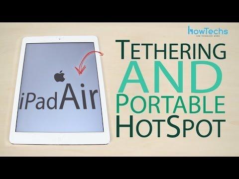 Apple iPad Air - How to setup portable hotspot