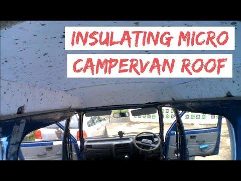 Insulate Campervan Roof - Daihatsu Hijet Micro Camper Van