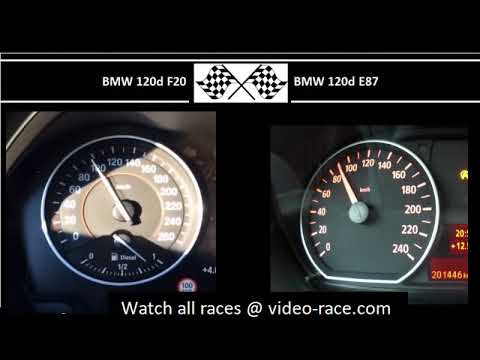 BMW 120d F20 VS. BMW 120d E87 - Acceleration 0-100km/h