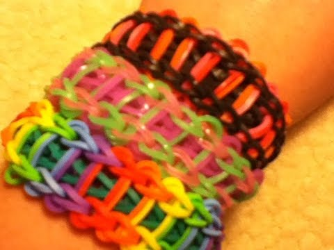 Rainbow Loom: How to make Ladder Bracelet Design Tutorial Easy