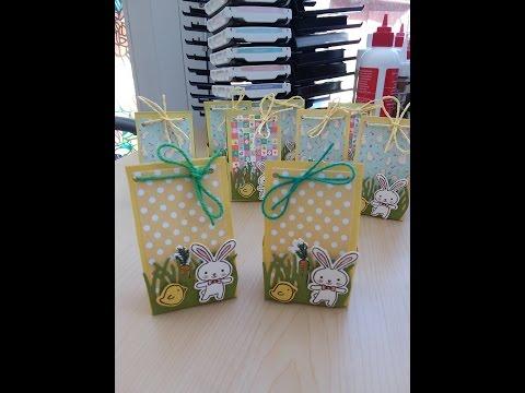 Quick & Easy Easter treat bag using Basket Bunch Stamp Set Stampin' Up!
