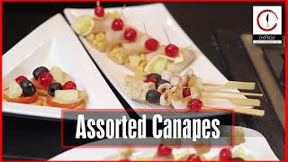 Assorted Canapes | Chicken Recipe | Quick And Easy Recipe | Homemade Food Recipes | One Platter