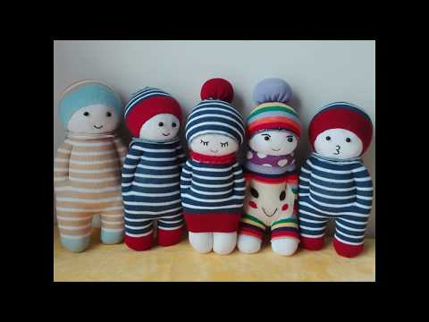 How to Make a Sock Doll, DIY dolls from socks (2 socks style)
