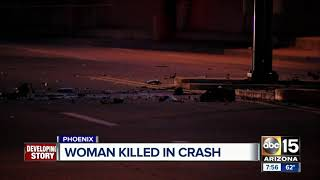 Woman dies after single car crash in Phoenix