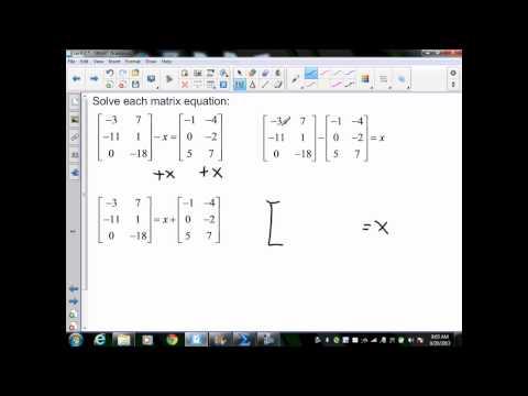 Alg II sec4 2 Adding and Subtracting Matrices