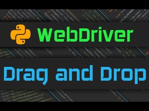 Selenium Webdriver - Everything on Drag and Drop with Python WebDriver