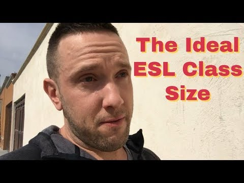 What's the Ideal Number of English Students for an ESL Class?