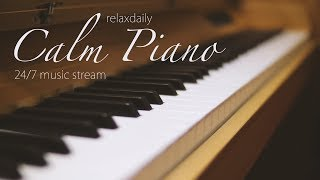 Calm Piano Music 24/7: study music, focus, think, meditation, relaxing music