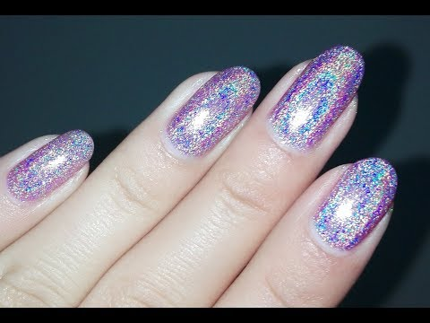 Holographic Pink Nail polish from BeautyBigBang- Swatch and Review | Rose Pearl