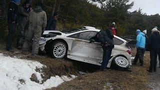 ACCIDENT CRASH OGIER FORD FIESTA WRC COL DU PERTY