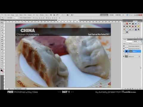 FREE PhotoShop Class Day 1 - Bonus video rasterize type