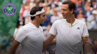 Roger Federer v Tomas Berdych highlights - Wimbledon 2017 semi-final