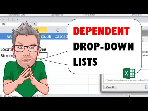 Cascading Drop Down Lists in Excel - Mutli-level Dependent Menus