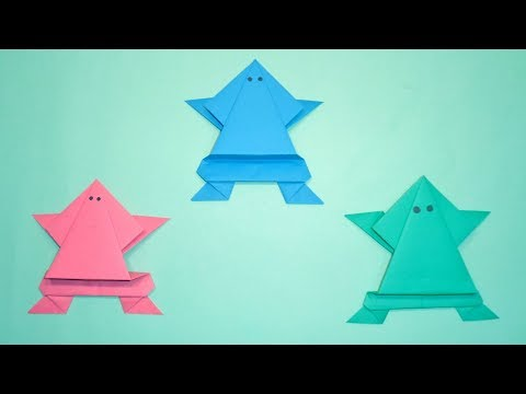 Origami Frog Making || How To Make an Easy Jumping Paper Frog For Kids