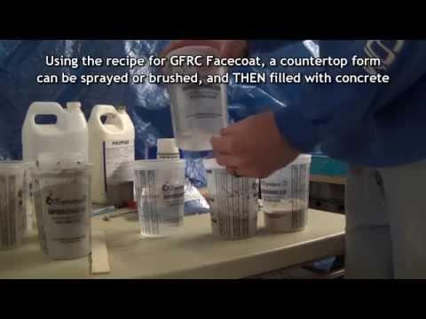 GFRC Facecoat Hybrid Concrete Countertop