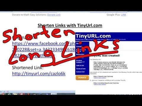 Shorten Long Links with TinyUrl.com