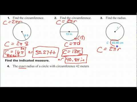 How to Find the Radius Given the Circumference
