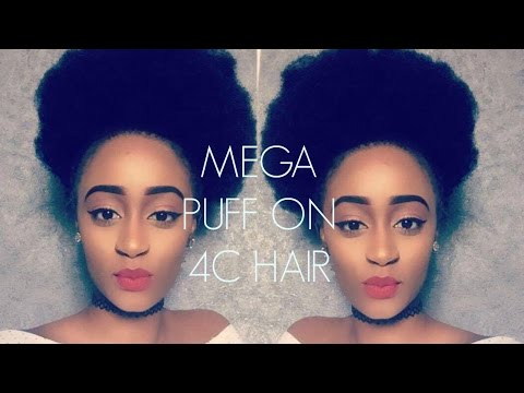 #NATURALHAIR: AFRO PUFF ON 4C HAIR