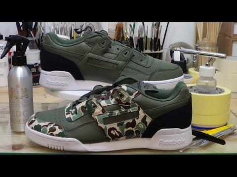 how to: custom sneakers (reebok x bape plus IT pt1)