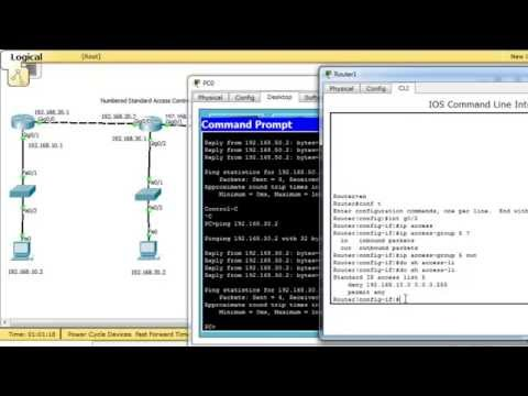 How Access List works - Numbered Standard Access List configuring
