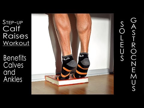 How to get Definition and Size Calf Muscles Soleus & Gastrocnemius raises stretch at home