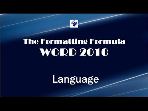Word 2010   Language - Change Proofing Language