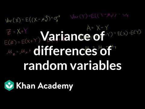 Variance of differences of random variables | Probability and Statistics | Khan Academy