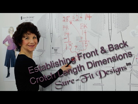 How to Divide your Crotch Measurement for Front and Back Lengths
