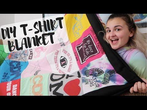 DIY T-Shirt Blanket!