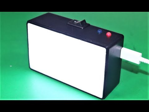 How to Make a MINI LED LIGHT BOX -  Rechargeable