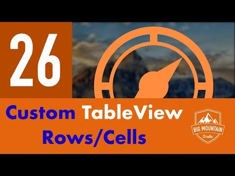 Custom TableView Cell - Part 26 - Itinerary App (iOS, Xcode 10, Swift 4)