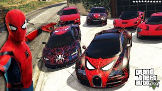 GTA 5 - Stealing MODIFIED Vehicles With SPIDERMAN! | (Real Life Cars #109)