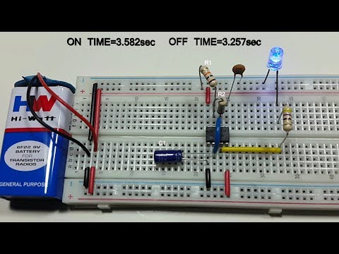 Astable multivibrator  type -1 off on time 60% variable using 555 timer in Tamil & English