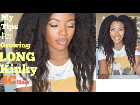My Tips for Growing Long 4C Kinky Natural Hair - Waist Length Natural Hair