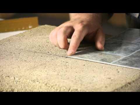 How to Lay Stick Down Vinyl Tiles on Concrete Floors : Flooring Help