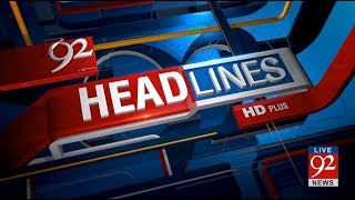 92 News HD Plus Headlines 06:00 PM - 17 November 2017 - 92NewsHDPlus