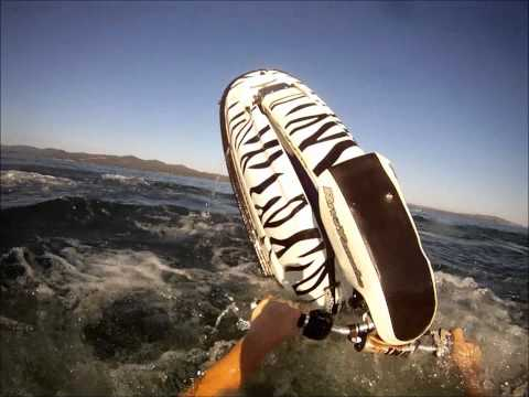 Barrel roll jetskiing with go-pro helmet cam