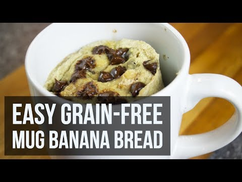 Easy Grain-Free Mug Banana Bread | Gluten-Free Microwave Dessert Recipe by Forkly