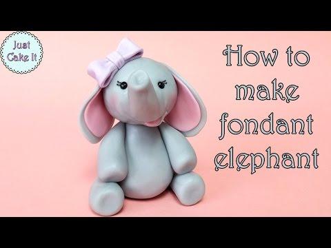 How to make fondant elephant / Jak zrobić figurkę słonia z masy cukrowej