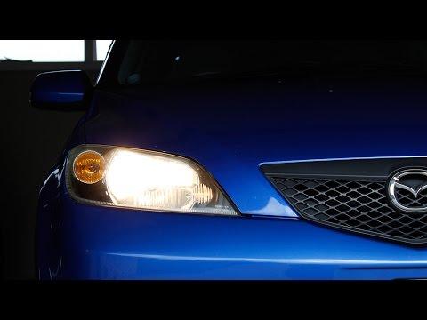Simple how-to: Change headlight bulbs, Mazda 2 [Demio]